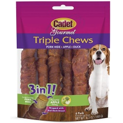 cadet triple chew treat duck and apple 6 pack 250x250 - Cadet Triple Chew Treat Duck and Apple 6 pack