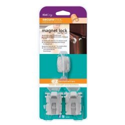 Kidco Magnet Lock and Key Adhesive Mount 2 Locks and Key White