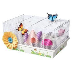 """Midwest Critterville Butterfly Hamster Home Clear, White 19.5"""" x 13.8"""" x 9.8"""""""