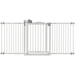 """richell one touch wide pressure mounted pet gate ii white 321 628 x 2 x 305 250x250 - Richell One-Touch Wide Pressure Mounted Pet Gate II White 32.1"""" - 62.8"""" x 2"""" x 30.5"""""""