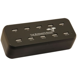 "the buzzards roost 10 port multi charger for garmin alpha dc50 tt10 t5 or tt15 black 6 x 25 x 25 250x250 - The Buzzard's Roost 10 Port Multi Charger for Garmin Alpha, DC50, TT10, T5 or TT15 Black 6"" x 2.5"" x 2.5"""