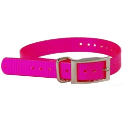 "the buzzards roost replacement collar strap 1 pink 1 x 24 250x250 - The Buzzard's Roost Replacement Collar Strap 1"" Pink 1"" x 24"""