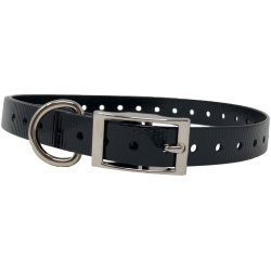 "the buzzards roost replacement collar strap 34 black 34 x 24 250x250 - The Buzzard's Roost Replacement Collar Strap 3/4"" Black 3/4"" x 24"""
