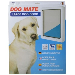 """20552 250x250 - Dog Mate Multi Insulation Dog Door - White (Large (Dogs up to 25"""" Shoulder Height))"""