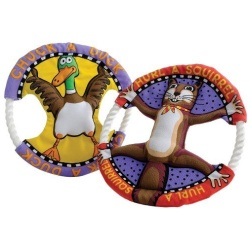 """26561 250x250 - Fat Cat Dog Toy Rings - Assorted (10"""" Diameter)"""
