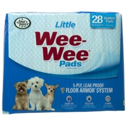 """Four Paws Wee Wee Pads for Little Dogs (28 Pack [22"""" Long x 23"""" Wide])"""