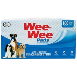 """Four Paws Wee Wee Pads Original (100 Pack - Box [22"""" Long x 23"""" Wide])"""