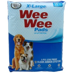 """Four Paws X-Large Wee Wee Pads (14 Pack [22"""" Long x 23"""" Wide])"""