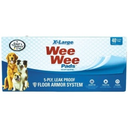 """Four Paws X-Large Wee Wee Pads (40 Pack [28"""" Long x 30"""" Wide])"""