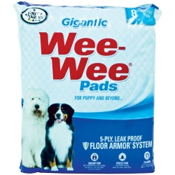 """Four Paws Gigantic Wee Wee Pads (Gigantic - 8 Pack [27.5"""" Long x 44"""" Wide])"""