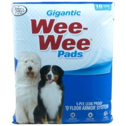 """Four Paws Gigantic Wee Wee Pads (Gigantic - 18 Pack [27.5"""" Long x 44"""" Wide])"""