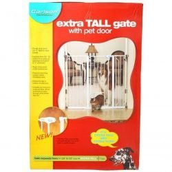 "original 250x250 - Carlson Pet Gates Maxi Walk Thru Gate with Pet Door [37""-60""W x 38""H]"