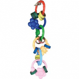xctmpy6QGFP - Happy Beaks Flowerringz Bird Toy - 10 X 3 X 3 Inch