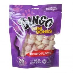 """25016 250x250 - Dingo Meat in the Middle Rawhide Chew Bones (Mini - 2.5"""" [26 Pack])"""