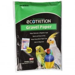 "Ecotrition Gravel Paper for All Birds (8-3/4"" Long x 13-3/8"" Wide)"