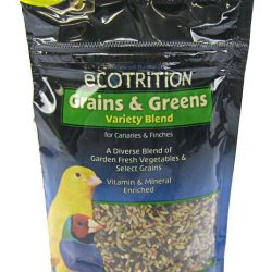 Ecotrition Grains & Greens Variety Blend for Canaries & Finches (8 oz)