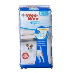 """Four Paws Wee Wee Diapers for Dogs (12 Pack - Small [Dogs 8-15 lbs with 13""""-19""""Waist])"""