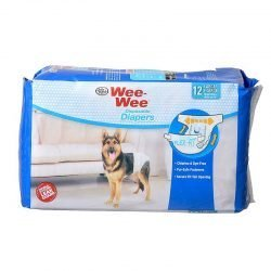 """Four Paws Wee Wee Diapers for Dogs (12 Pack - Large [Dogs 35-45 lbs with 20""""-27"""" Waist])"""
