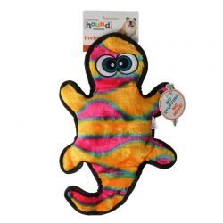 """32306 250x250 - Invincibles Orange & Yellow Gecko Dog Toy (2 Squeaders - 13"""" Long)"""