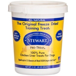 38861 250x250 - Stewart Pro-Treat 100% Freeze Dried Chicken Liver for Dogs (3 oz)