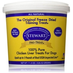 38864 250x250 - Stewart Pro-Treat 100% Freeze Dried Chicken Liver for Dogs (11.5 oz)