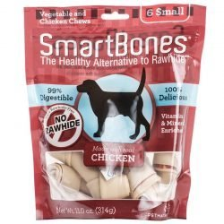 """SmartBones Chicken & Vegetable Dog Chews (Small - 3.5"""" Long - Dogs under 20 Lbs [6 Pack])"""