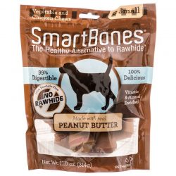 """SmartBones Peanut Butter Dog Chews (Small - 3.5"""" Long - Dogs under 20 Lbs [6 Pack])"""
