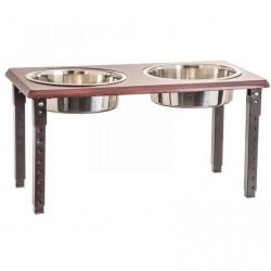 """42074 250x250 - Spot Posture Pro Double Diner - Stainless Steel & Cherry Wood (3 Quart [11""""-18"""" Adjustable Height])"""