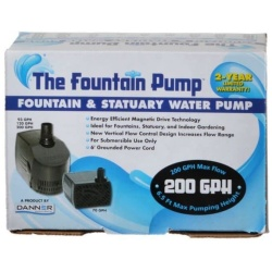 42422 250x250 - Danner Fountain Pump Magnetic Drive Submersible Pump (SP-200 [200 GPH] with 6' Cord)