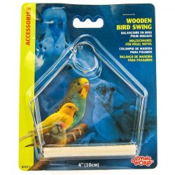 "46169 250x250 - Living World Wood Perch Bird Swings (4"" Long x 5"" High)"