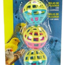 46202 250x250 - Living World Plastic Balls with Bells Bird Toy (4 Pack)