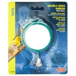 46205 250x250 - Living World Double Sided Mirror with Bell Bird Toy (1 Pack - [Assorted Colors])