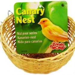 "46232 250x250 - Living World Wicker Canary Nest (4"" Long x 2"" Wide)"