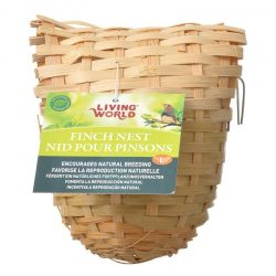 "46235 250x250 - Living World Bamboo Finch Nest (Large [6"" Long x 5"" Wide])"