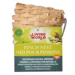 "46238 250x250 - Living World Bamboo Finch Nest (Small [3-7/8"" Long x 3-7/8"" Wide])"