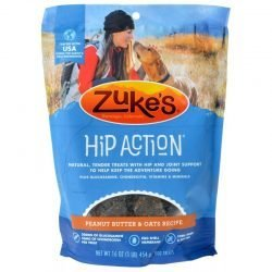 47618 250x250 - Zukes Hip Action Dog Treats - Peanut Butter & Oats Recipe (1 lb)