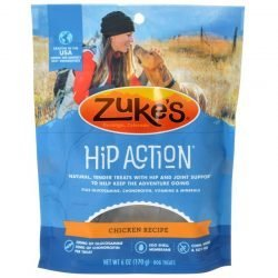 47624 250x250 - Zukes Hip Action Hip & Joint Supplement Dog Treat - Roasted Chicken Recipe (6 oz)