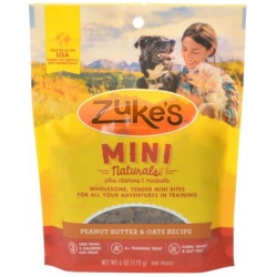 47669 250x250 - Zukes Mini Naturals Dog Treats - Peanut Butter & Oats Recipe (6 oz)