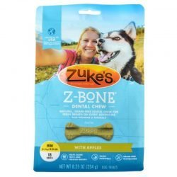 47768 250x250 - Zukes Z-Bones Dental Chews - Clean Apple Crisp (Mini [18 Pack - 9 oz])