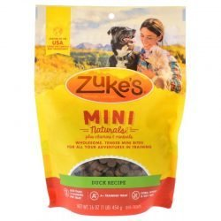 52735 250x250 - Zuke's Mini Naturals Moist Dog Treats - Delicious Duck Recipe (1 lb)