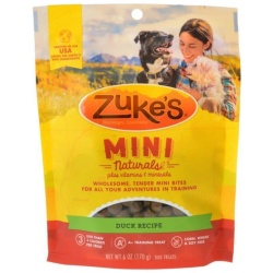 52741 250x250 - Zuke's Mini Naturals Moist Dog Treats - Delicious Duck Recipe (6 oz)