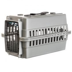 """54484 250x250 - Aspen Pet Traditional Pet Kennel - Gray (Dogs up to 10 lbs - [20""""L x 13""""W x 11""""H])"""