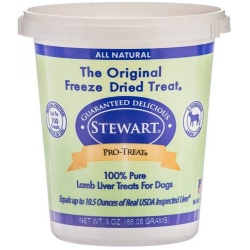56958 250x250 - Stewart Pro-Treat 100% Freeze Dried Lamb Liver for Dogs (3 oz)