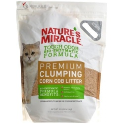 Nature's Miracle Tough Odor Bio-Enzymatic Formula Premium Clumping Corn Cob Litter (10 lbs)