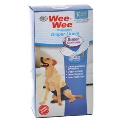 Four Paws Wee Wee Super Absorbent Disposable Diaper Liners (10 Pack - [Fits All Garment Sizes])