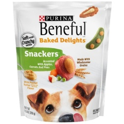 Purina Beneful Baked Delights Snackers with Apples, Carrots, Peas & Peanut Butter Dog Treats (9.5 oz [269 g])