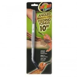 """76179 250x250 - Zoo Med Angled Stainless Steel Feeding Tongs (1 Pack - [10"""" Long])"""