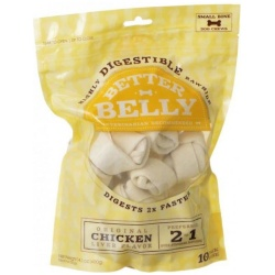 Better Belly Rawhide Chicken Liver Bones - Small (10 Count)