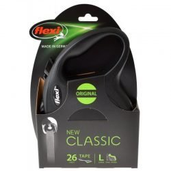 80501 250x250 - Flexi New Classic Retractable Tape Leash - Black (Large - 26' Tape [Pets up to 110 lbs])