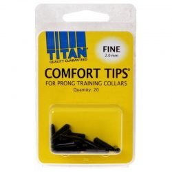 Titan Comfort Tips for Prong Training Collars (Fine [2.0 mm] - 20 Count)